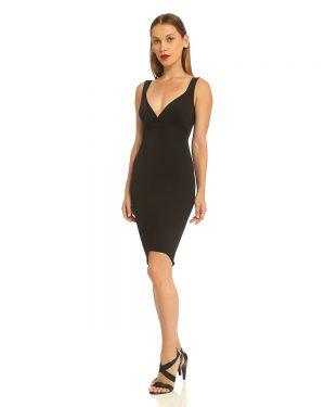 שמלת סריג שחורה