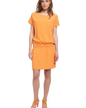 שמלת משי בכתום