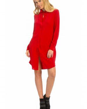 שמלת משי אדומה
