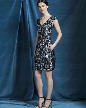 שמלת ז'אקרד פייטים