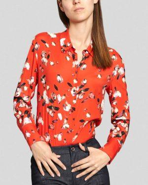 חולצת משי אדומה